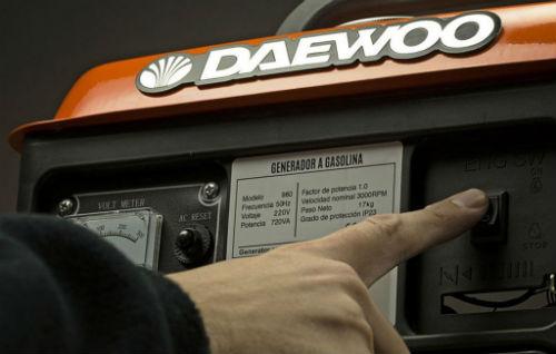 generador de corriente daewoo