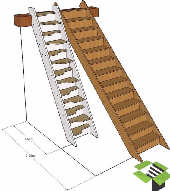mini escaleras espacio
